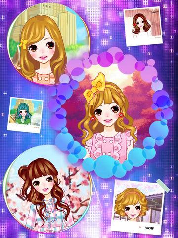 糖果小妹-校服学生装,女生模拟换装小游戏