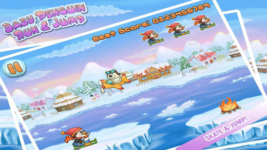 Baby Penguin Run Pro - An Endless Action Kids Game