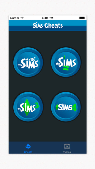 Bundled Cheats Videos App For Sims Series