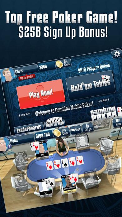 Gambino Poker iPhone Screenshot 2