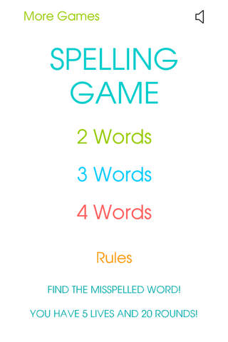Spelling Game - Best Free English Spelling Educational Puzzle & Word game screen