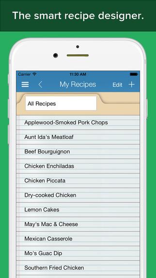 Recipe Builder Pro - calorie and nutrition info calculator recipe designer