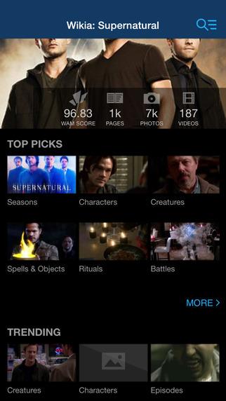 Wikia: Supernatural Fan App