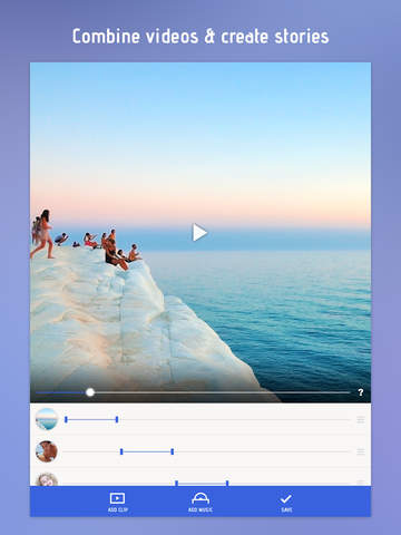 Screenshots of Combine Videos and Stitch Clips Together with Video Slideshow for iPad