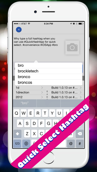 Quick Hashtags for Status Update on Facebook Twitter and Instagram