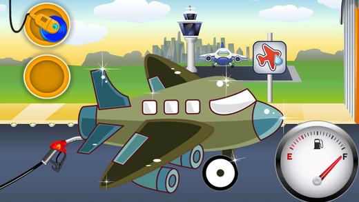 飞机洗 — — 孩子们汽车沙龙洗游戏和维修店