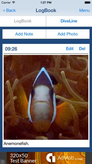 DivingLog - Scuba Diving LogBook App to record your scuba dive activity in ocean -