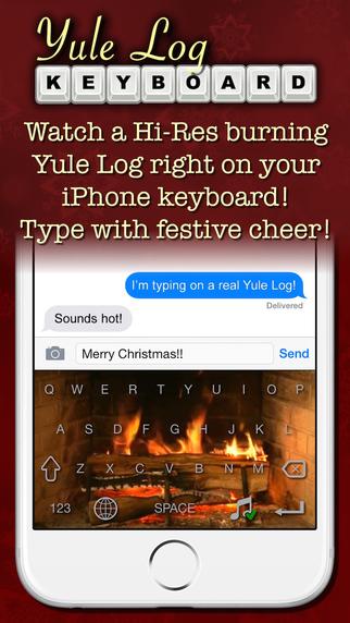Yule Log Keyboard - Merry Christmas Typing