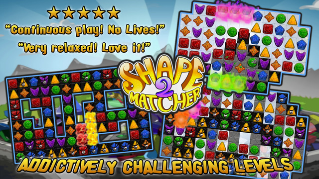 Shape Matcher 2 - Best Diamond Match-3 Scramble