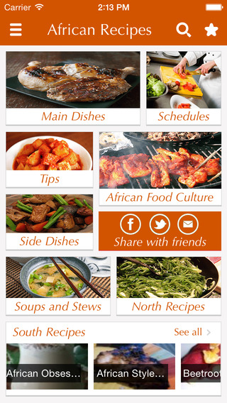 African Food Recipes - best cooking tips ideas meal planner and popular dishes