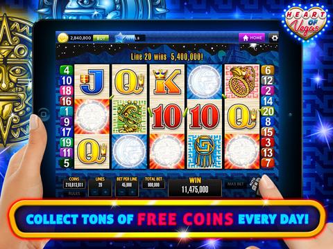 Heart of Vegas Slots! Aristocrat™ Slot Machines - Free Casino Fun!
