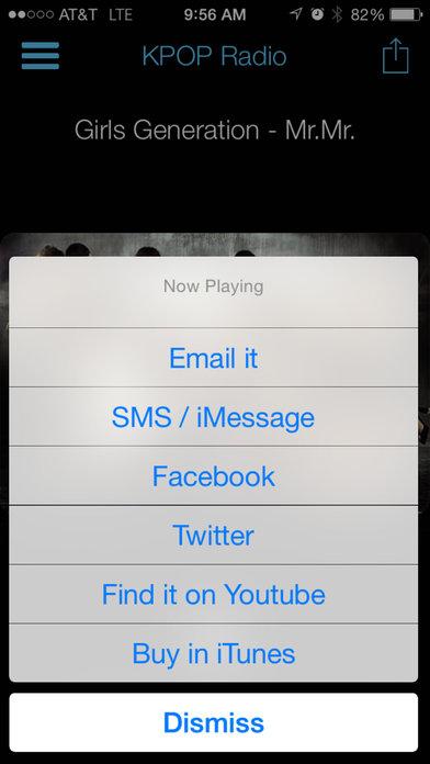 KPOP Radio iPhone Screenshot 3