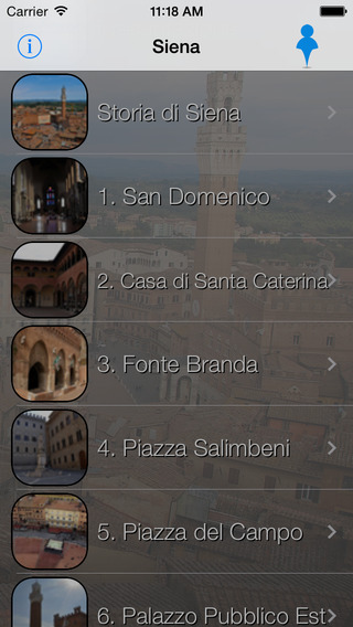 Siena Giracittà - Audioguida iPhone Screenshot 2