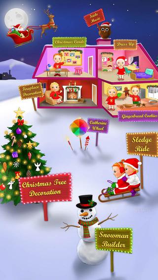 Sweet Baby Girl Christmas Fun and Santa Gifts
