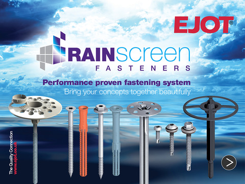 EJOT Rainscreen fasteners specifier