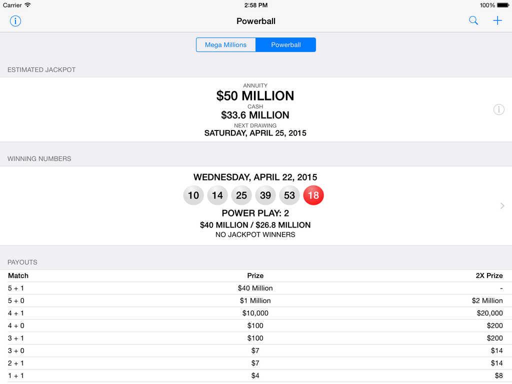 App Shopper: Mega Millions + Powerball - lottery games in ...