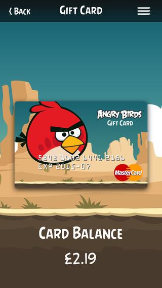 Angry Birds Prepaid Card by Brandution v2.0