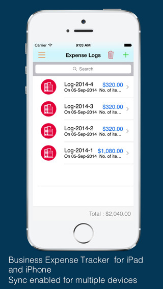 Business Expense Tracker : For time mileage invoice