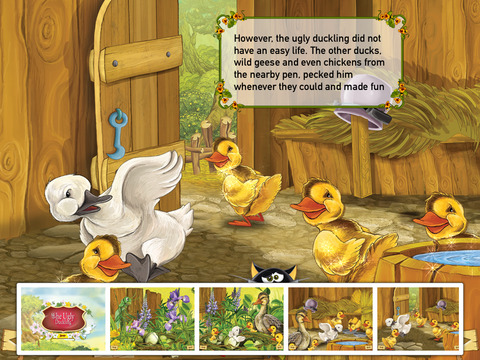 The Ugly Duckling Interactive Danish Fairy Tale by H.C. Andersen iPad Screenshot 3