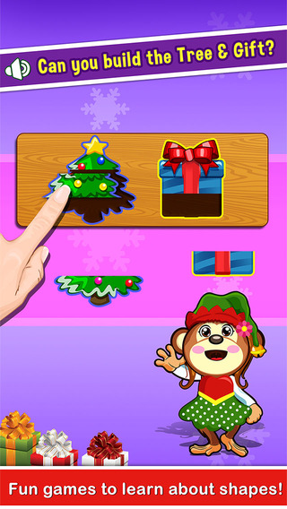 Puzzle Games for Preschool Toddler Kids - little educational christmas salon games