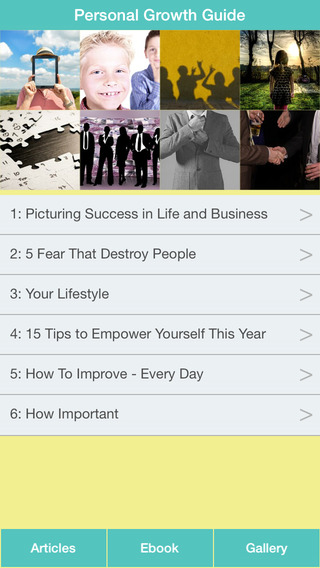 Personal Growth Guide - Guide To Developing a Lifetime Of Success