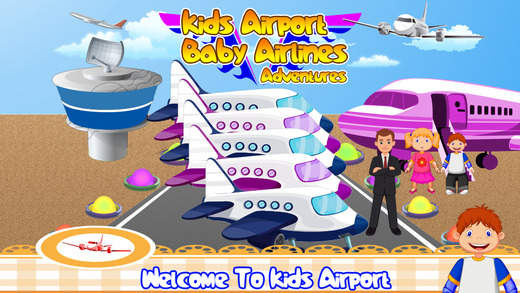 Kids airport baby Airlines adventures - little boys girls games