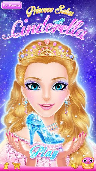 Princess Salon : Cinderella - Makeup Dressup Spa and Makeover - Girls Beauty Salon Games