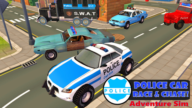Police Car Race Chase Adventure Sim 3D