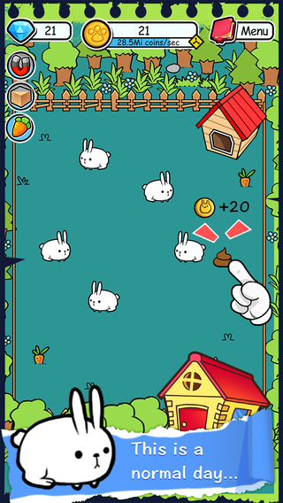 Rabbit Evolution Tap Coins of the Crazy Mutant Poop Clicker Game