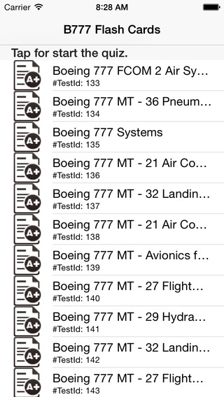 Systems Limitations Flash Cards for Boeing 777