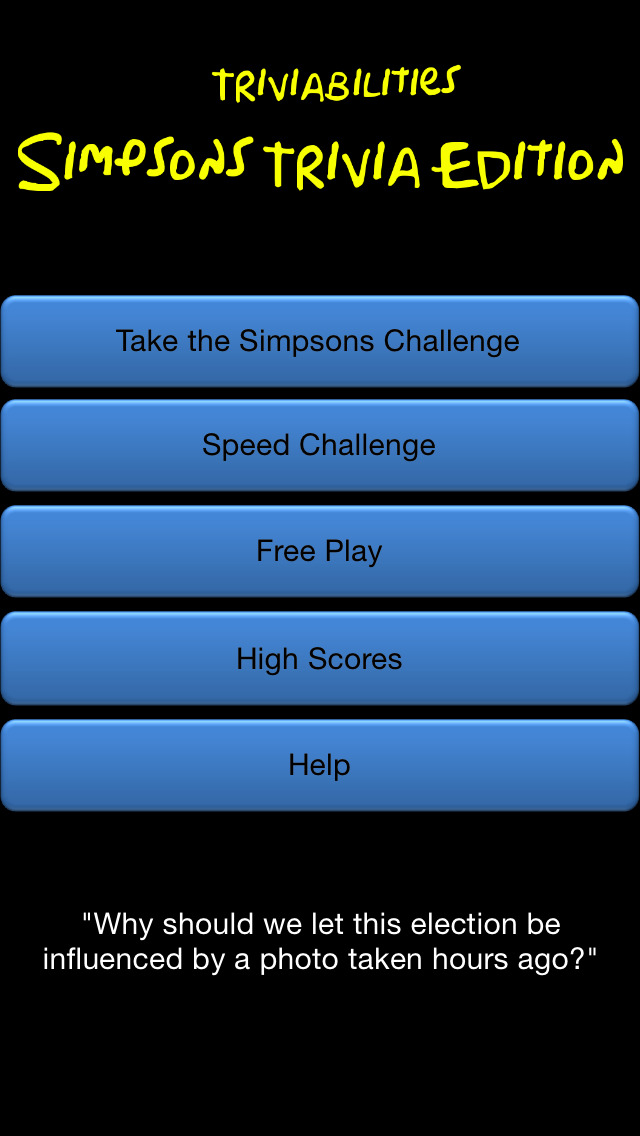 how to play simpsons trivia game