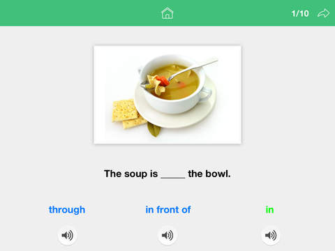 Screenshot #3 for Prepositions by Teach Speech Apps - for speech therapy
