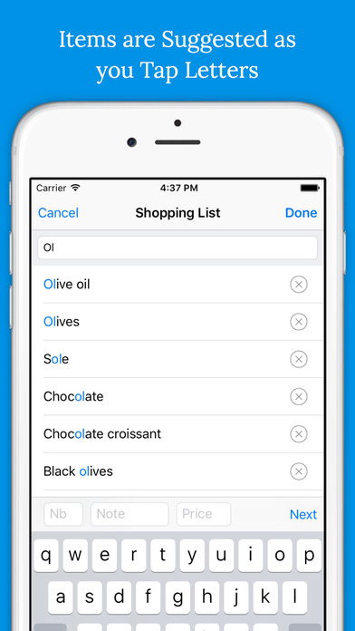 Shoppylist Pro (Grocery List) Screenshots