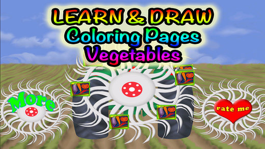Coloring Vegetables - Educational Fun Food Coloring Pages