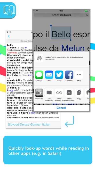 German <-> Italian Slovoed Deluxe talking dictionary iPhone Screenshot 3