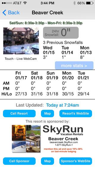 Colorado Snow Report iPhone Screenshot 4