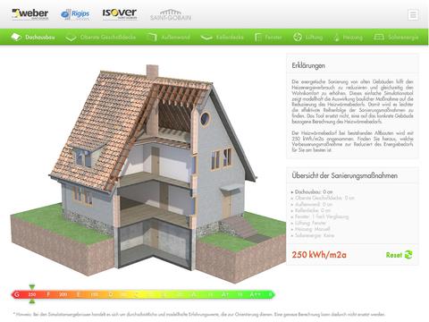 Saint-Gobain Multi-Komfort Energiesparsimulation
