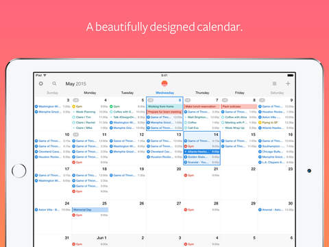Sunrise Calendar - An Outlook App Screenshot