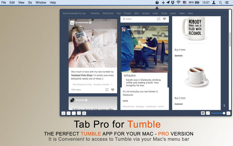 Tab Pro for Tumble Screenshot - 4
