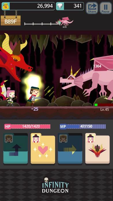 Infinity Dungeon Evolution Games for iPhone/iPad screenshot