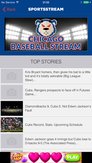 CHICAGO BASEBALL STREAM