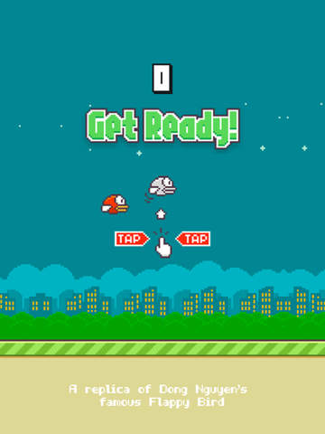 ipad Flappy - A Replica of the Original Bird Game Screenshot 1