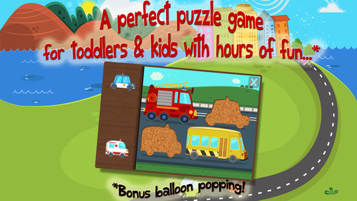 Kids Car Trucks Construction Vehicles - Puzzles for Toddlers