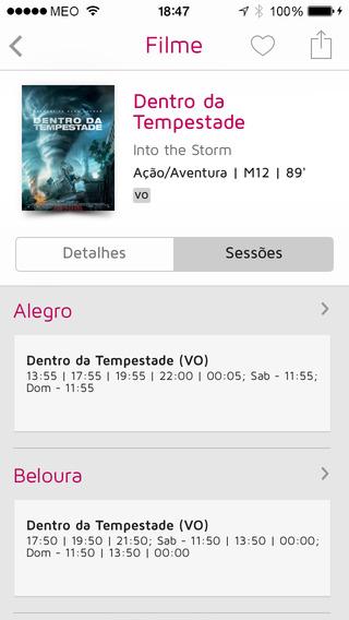 Cine SAPO iPhone Screenshot 2