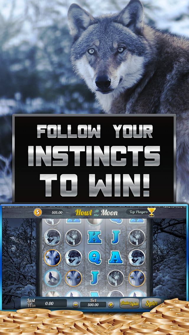 `` Wolf Slots Machine - Howl At The Moon Free Casino Blitz Game