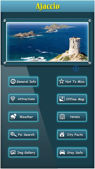 Ajaccio Offline Map Travel Guide