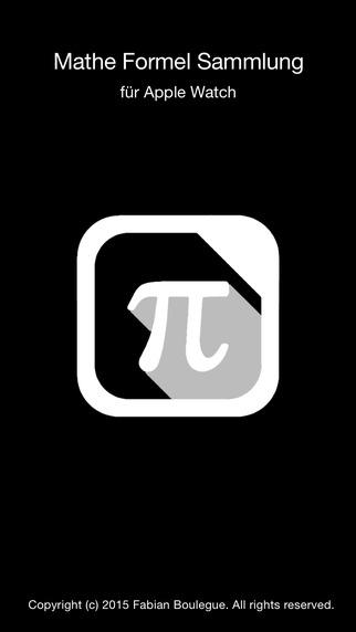 Mathe Formelsammlung für Apple Watch