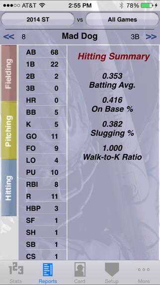 StatCatcher™ Baseball (Player Edition) iPhone Screenshot 3