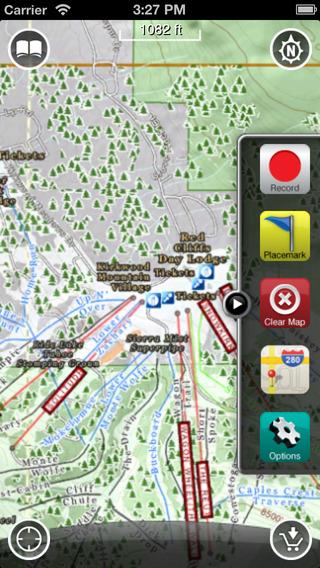 Kirkwood GPS: Ski and Snowboard Trail Maps