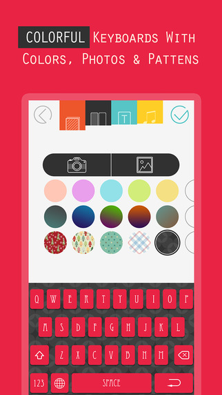 Custom Keyboard for iOS 8 - Free Customize Color Keyboards Skins